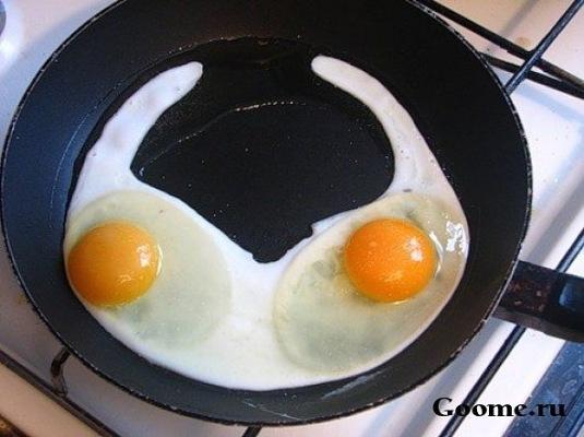 сутиен от яйца на очи