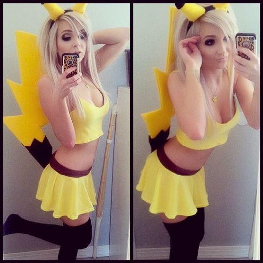 блондинка лови покемон